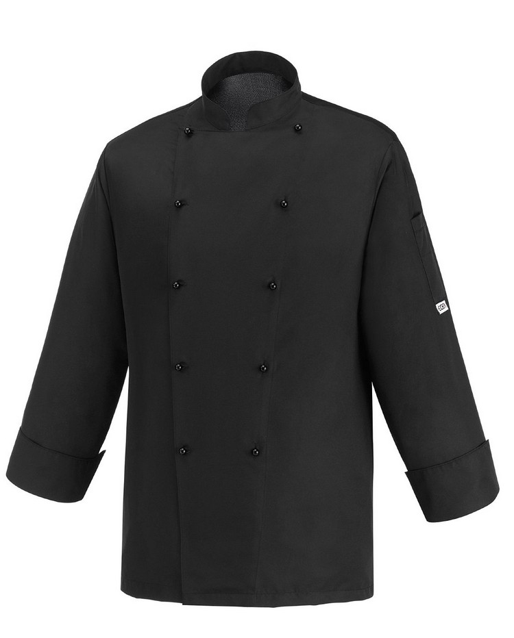 Picture of Chef Jacket Black Ice 100% Microfiber
