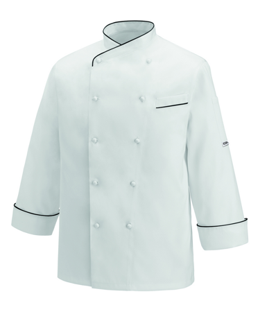 Picture of Chef Jacket Gerard Black Piping