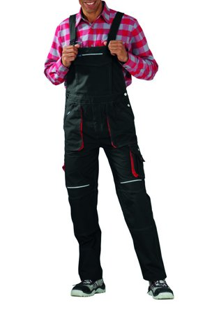 Picture of Basalt Dungarees 2830 anthracite/red