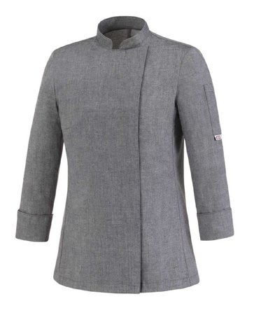 Picture of Chef Jacket Grey Mix Girl