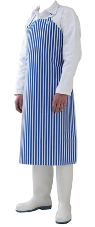 Picture of Waterproof Work Apron white & blue striped DELTA