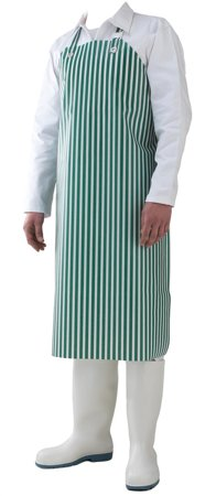 Picture of Waterproof Work Apron white & green striped DELTA