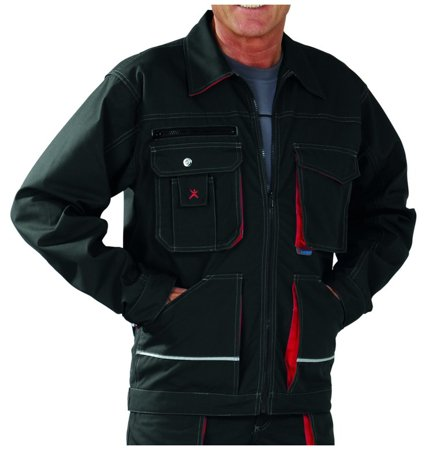 Picture of Jacket Bassalt 2810 Anthracite/Red
