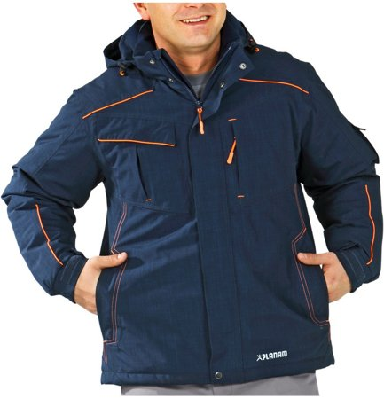 Picture of Waterproof Neon Jacket 3395 navy/orange