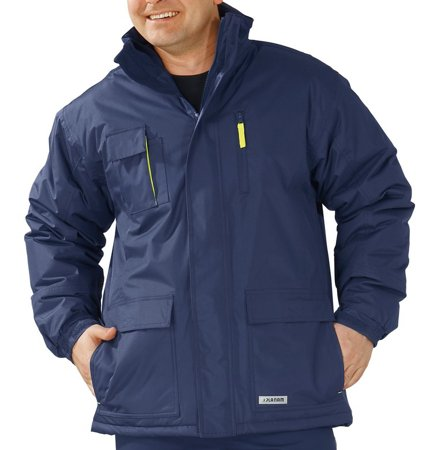 Picture of Waterproof Jacket Flare Parka 3651 navy/yellow