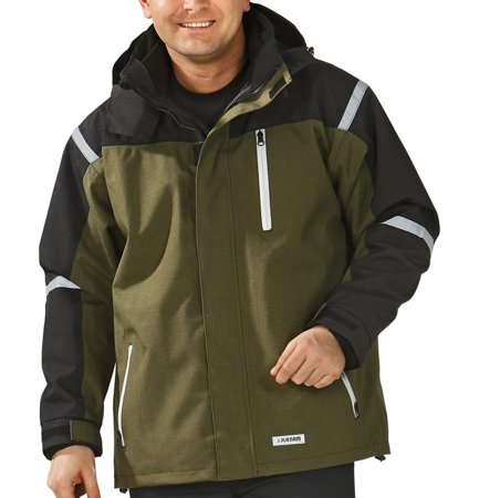 Picture of Waterproof Jacket Cross Parka 3657 olive/black