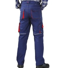 Picture of Work Trousers Basalt 2822 navy/red