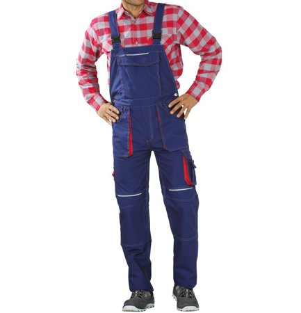 Picture of Basalt Dungarees 2832 navy/red