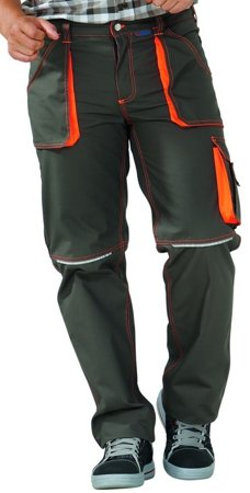 Picture of Work Trousers Basalt Neon 6222 Olive/Orange
