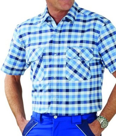 Picture of Men's shirt Country Blue checked 0485