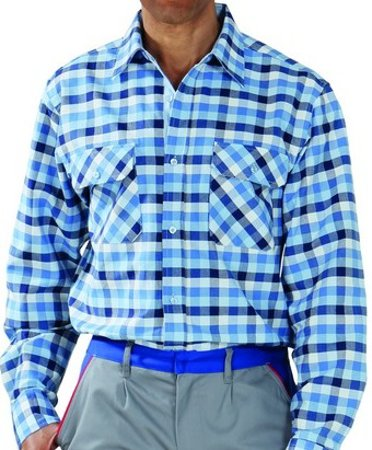 Picture of Men's shirt Country Blue checked 0480