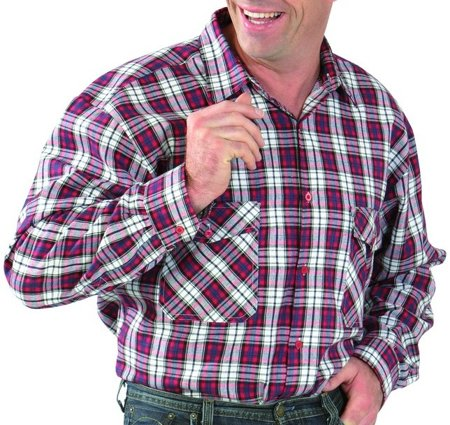Picture of Men's shirt Flanell Red checked 0451