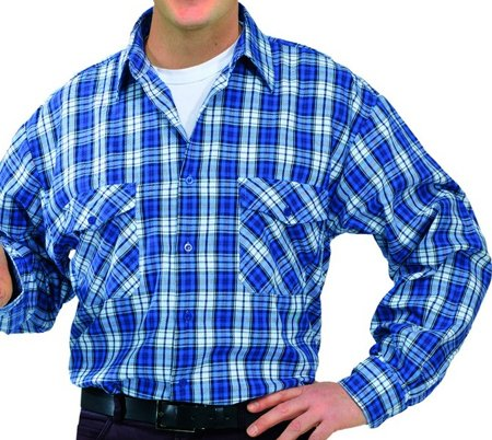 Picture of Men's shirt Flanell Blue checked 0450