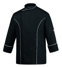 Picture of Chef Jacket Black Master 100% Microfiber