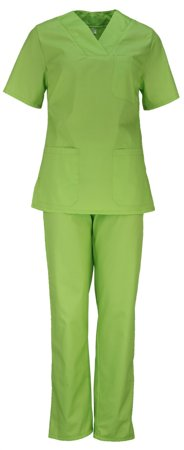 Picture of Women's Nursing Scrub Set light green