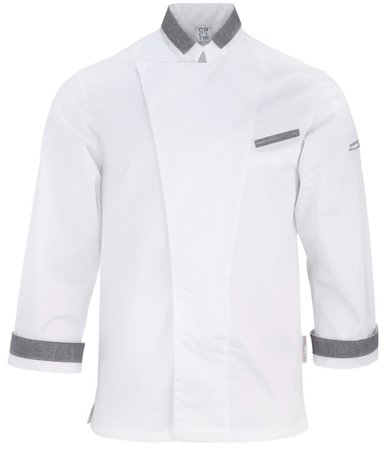 Picture of Chef Jacket Manuel White - Grey
