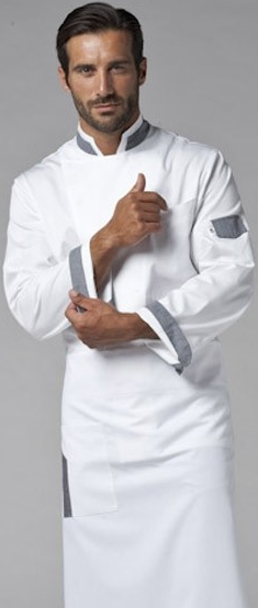 Picture of Chef Jacket Jack White - Grey
