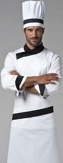 Picture of Σακάκι Chef Nicolas Λευκό - Μαύρο