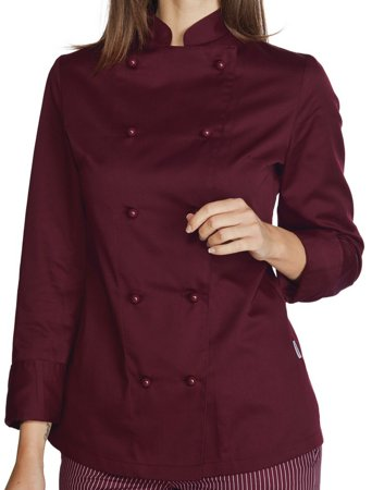 Picture of Chef Jacket Giacca Burgundy Lady 057503