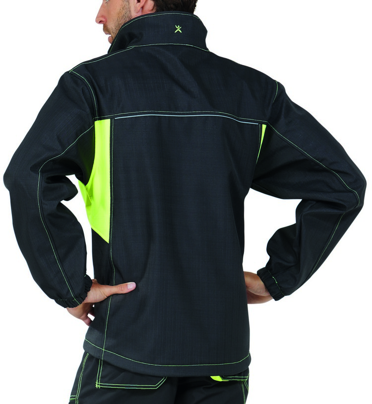 Picture of Basalt Neon Softshell Jacket 6290 anthracite/yellow