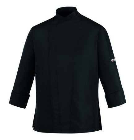 Picture of Chef Jacket Black Guy 100% Microfiber