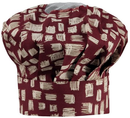 Picture of Chef's Hat 1248 Wine Red Pattern