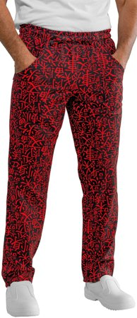 Picture of Chef Trousers Pantalaccio Sushi 07 Black/Red - 044673