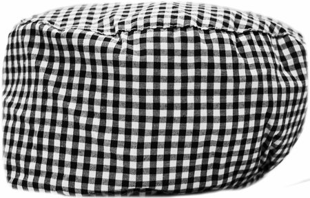 Picture of Surgical Cap Black with Big Squares