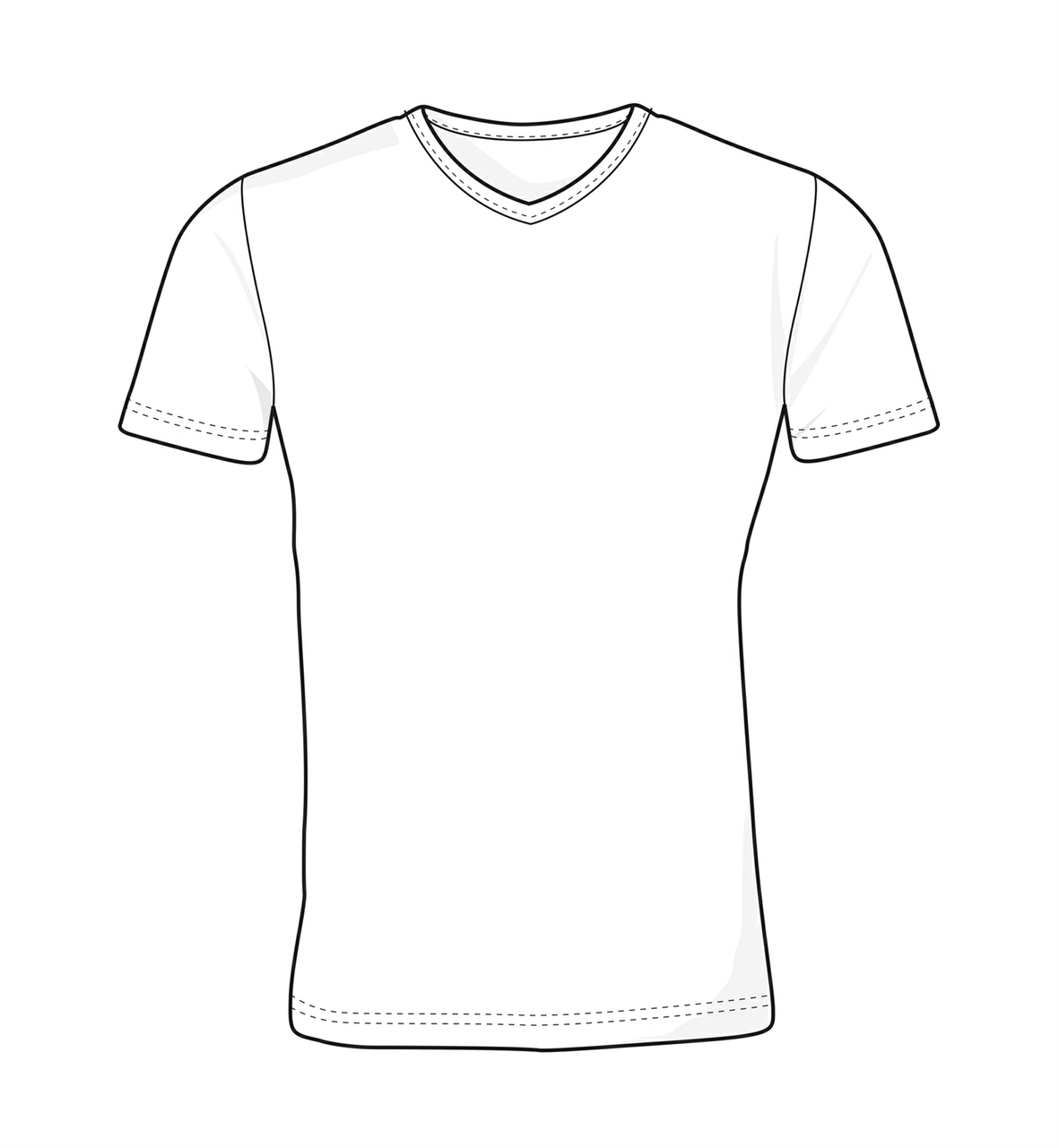 Picture of T-Time t-shirt | V-Neck 0514 White