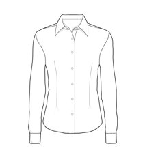 Picture of Ladies' Stretch Shirt 0218 / White