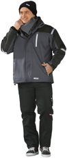 Picture of Waterproof Jacket Cross Parka 3656 Grey Anthracite/black