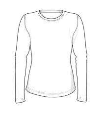 Picture of Interlock Lady's t-shirt 0509 / White