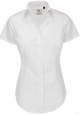 Picture of Women B&C Collection Heritage LSL Poplin Shirt / White