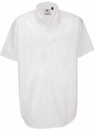 Picture of Men B&C Collection Heritage SSL Poplin Shirt / White