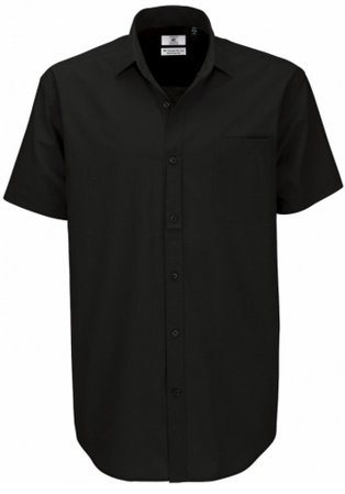 Picture of Men B&C Collection Heritage SSL Poplin Shirt / Black