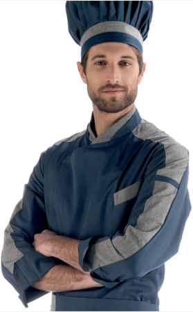 Picture of Chef Jacket Ocean Blue - Grey