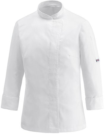 Picture of Chef Jacket Cheap Donna 100% Microfiber / White