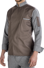 Picture of Chef Jacket Jack Brown - Grey