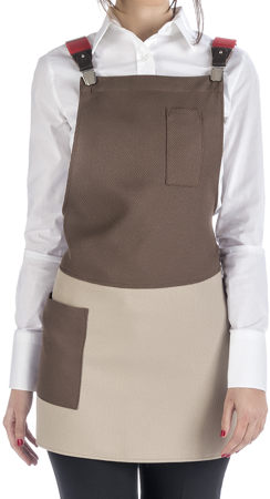 Picture of Helen Bib Apron / Καφέ
