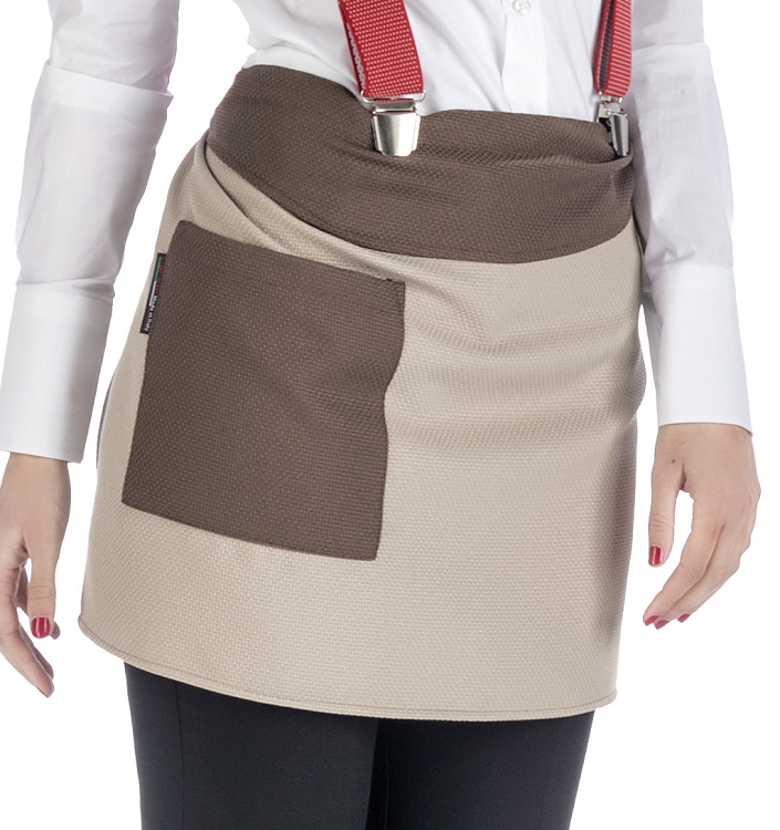 Picture of Fiona Bar Apron / Brown