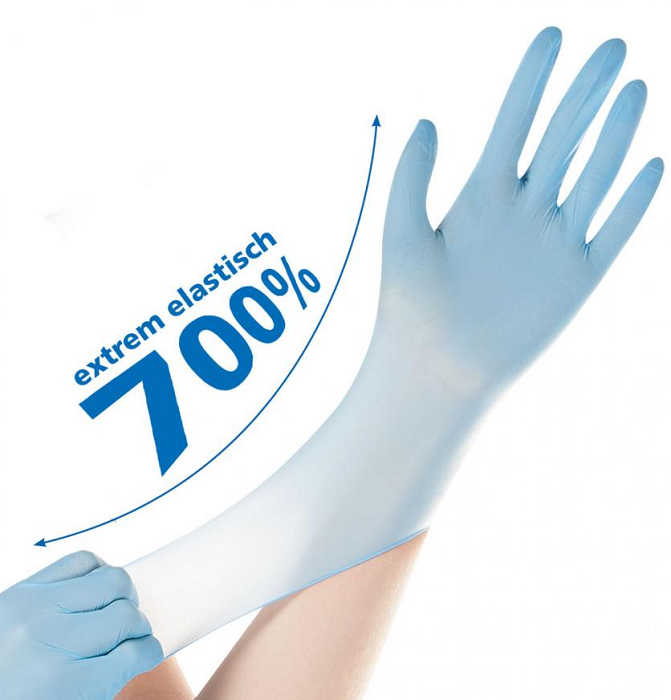 Picture of Nitrile gloves SAFE SUPER STRETCH / Blue, powder free