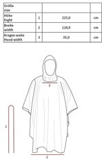 Picture of Poncho Rip Stop 08524B / OD Green