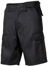 Picture of Shorts 01502A / Black cargo-pockets