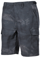 Picture of Shorts US Bermuda, Rip Stop 01513H / HDT camo grey