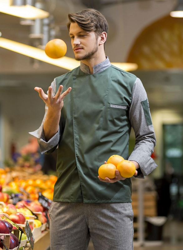 Picture of Chef Jacket Jack Green - Grey