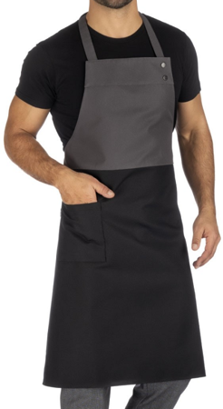 Picture of Falda City bib apron Black/Grey