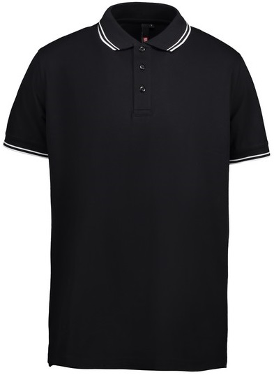 Picture of Pique Polo shirt 0522 Stretch Contrast / Black