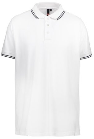 Picture of Pique Polo shirt 0522 Stretch Contrast / White