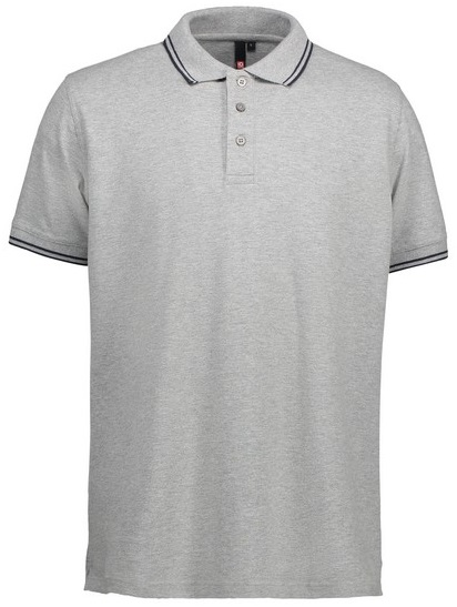 Picture of Pique Polo shirt 0522 Stretch Contrast / Grey Melange