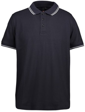 Picture of Pique Polo shirt 0522 Stretch Contrast / Navy